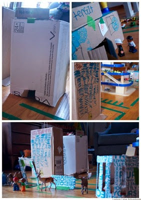 Cardboard City from Lemon Lime Adventures