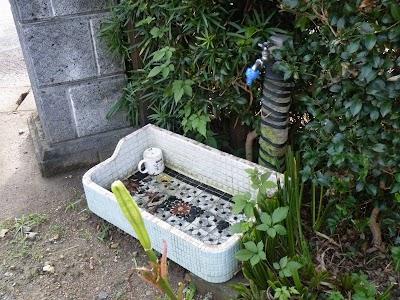 漏水していると思われる外構散水栓