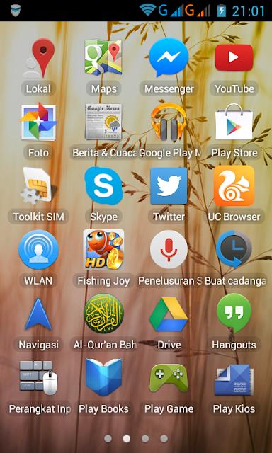 Capture tampilan di android lenovo A316i