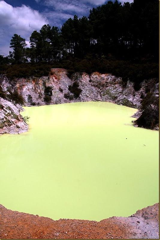 Sulphurous pool - Wai-o-tapu thermal reserve - Rotorua