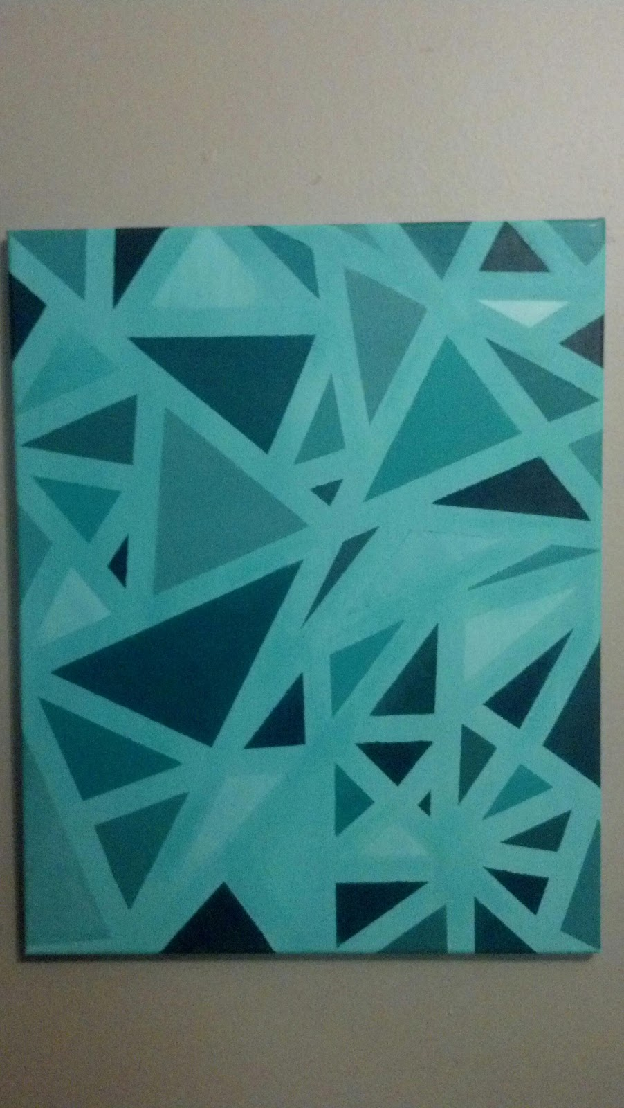 Creative Insomnia Abstract Monochromatic Painting
