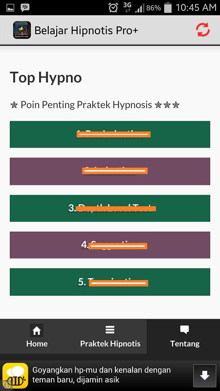 Belajar Hipnotis Lengkap Pro - screenshot