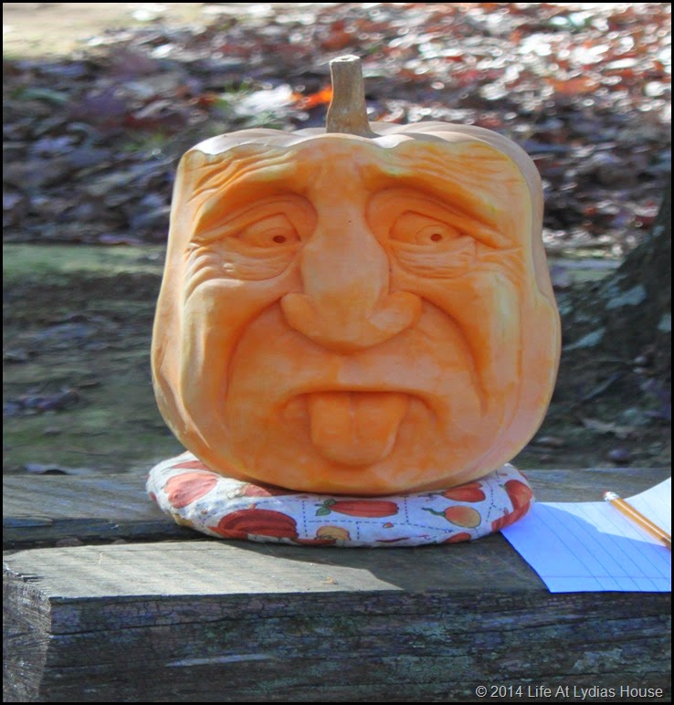 carved pumpkin head 1