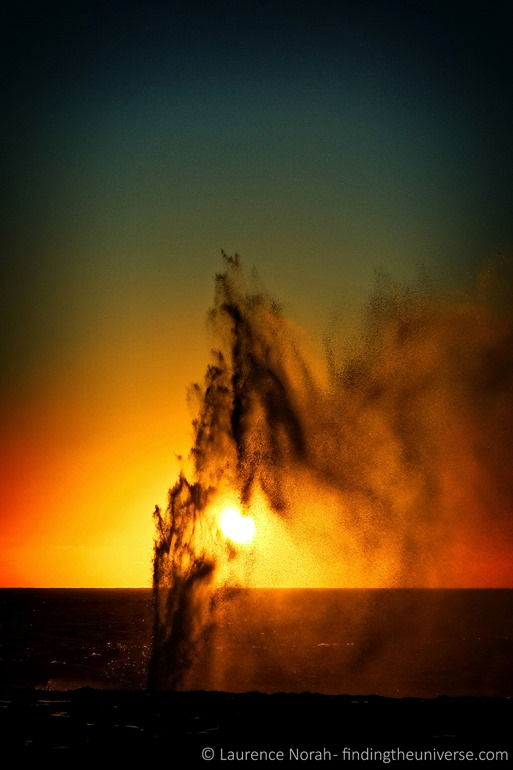 Sunset blow hole scaled