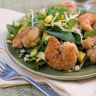 Peanut Shrimp Salad With Basil-Lime Dressing.