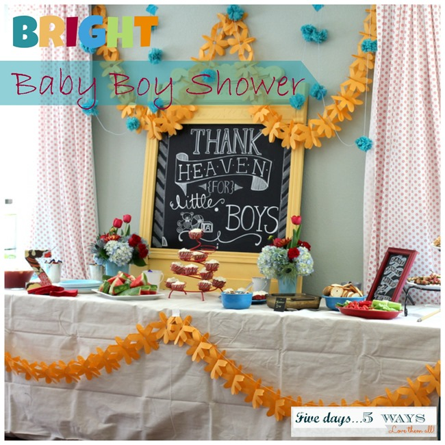 bright baby boy shower