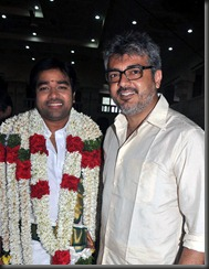 Actor Ajith Kumar at Mirchi Shiva Wedding Ceremony Pictures