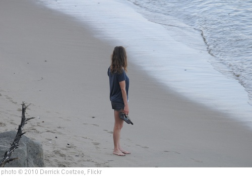 'Woman on beach looking back' photo (c) 2010, Derrick Coetzee - license: http://creativecommons.org/licenses/by/2.0/