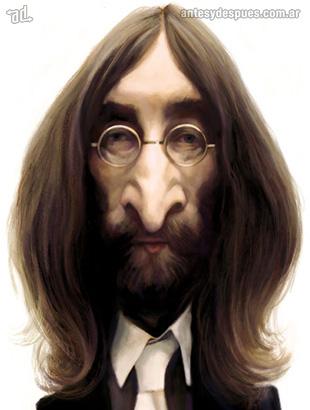 La caricatura de John Lennon