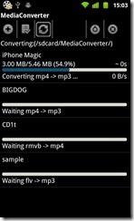 Mp3 Media Converter convertendo
