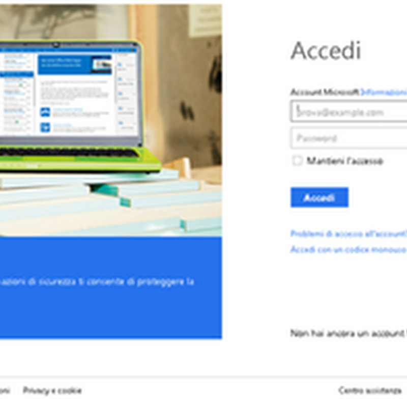 Guida a Windows 8: definizione di un account Microsoft.