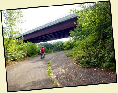 03 - Mohawk River (Erie Canal) Bike Trail heading SE - passing under the interstate toward Schenectady