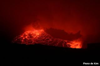 Le lac de lave du volcan Nyiragongo, Goma, 2005