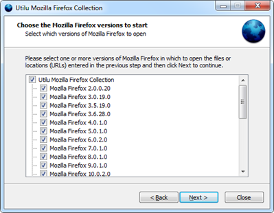 Install Multiple Firefox using Utilu Firefox Collection