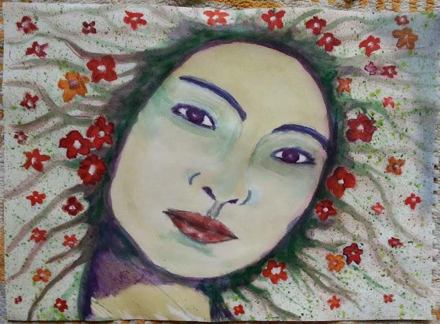 Mujer del bosque by DOUGLAS CHADIZ, DOUGLAS CHADIZ, DOUGLAS CHADIZ. Rostros, caras de mujeres, pinturas de mujeres.