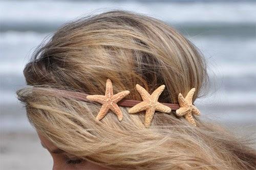 Inspiração: estrela do mar - headband enfeite de cabelo