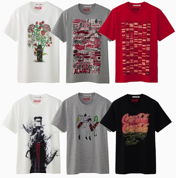 897456c33 UNIQLO lança linha de camisetas da Coca-Cola com estampas exclusivas.
