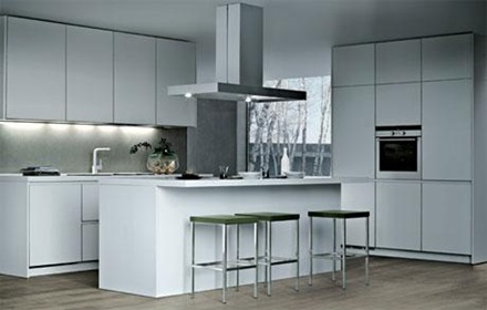 cocina_minimalista- Cocinas modernas blancas