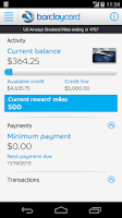 Screenshot of Barclaycard for Android