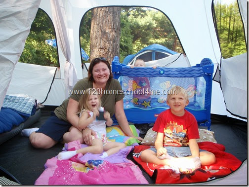 tips and tricks for camping with kids