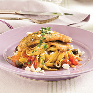 Mediterranean Turkey Cutlets and Pasta.