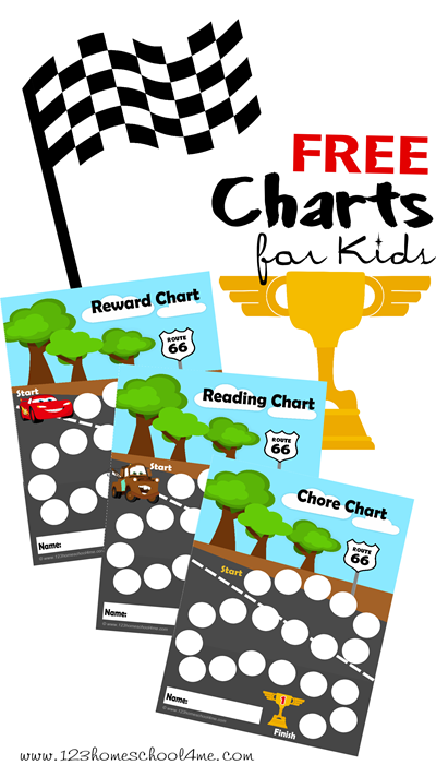 FREE Disney Cars Charts for Kids!! Help motivate kids with these new CARS 2 chore charts, reading charts, behavior chart, potty chart, etc. **HINT** Laminate to use them over and over!!