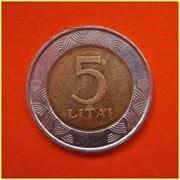 Lituania 5 Litai 1999