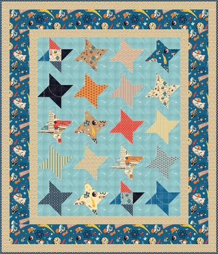 Free quilt pattern using Rocket Age fabrics
