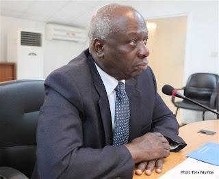 Jacques Diouf, directeur de l'Organisation des Nations unies pour l'alimentation et l'agriculture (FAO), le 9 août 2011 à Kinshasa