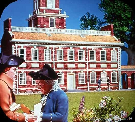 View-Master The Revolutionary War (B810), Scene B2: Independence Hall, 1976