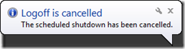 Apagado cancelado en Windows