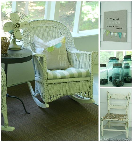 DIY and vintage porch accessories