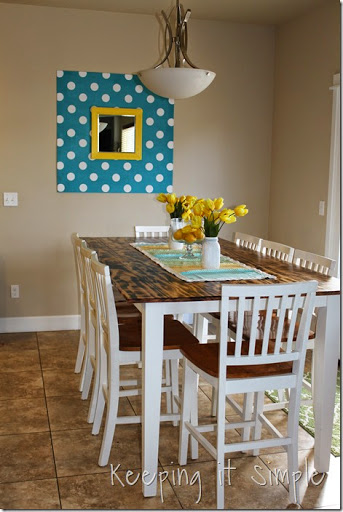 DIY Dining Table With Burned Wood Finish #Bernzomatic (