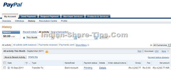Paypal Auto Debit Facility   Paypal Automatic Withdrawl