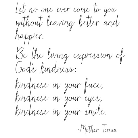 be the living expression of kindness