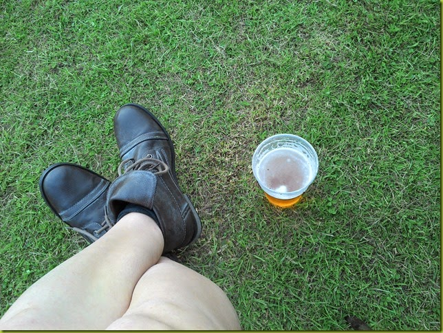 festival legs and beer
