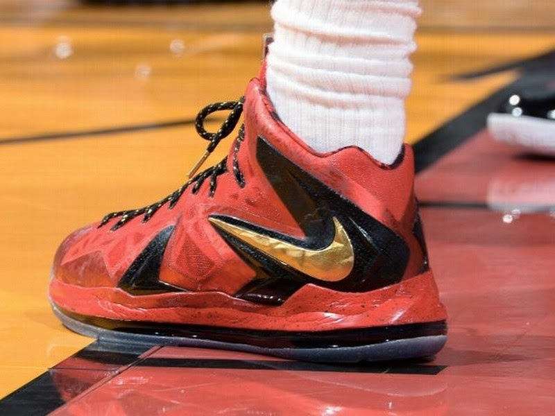 half off 5197a 6b254 Closer Look at James8217 Nike LeBron X PS Elite Finals PE in Game 3 ...