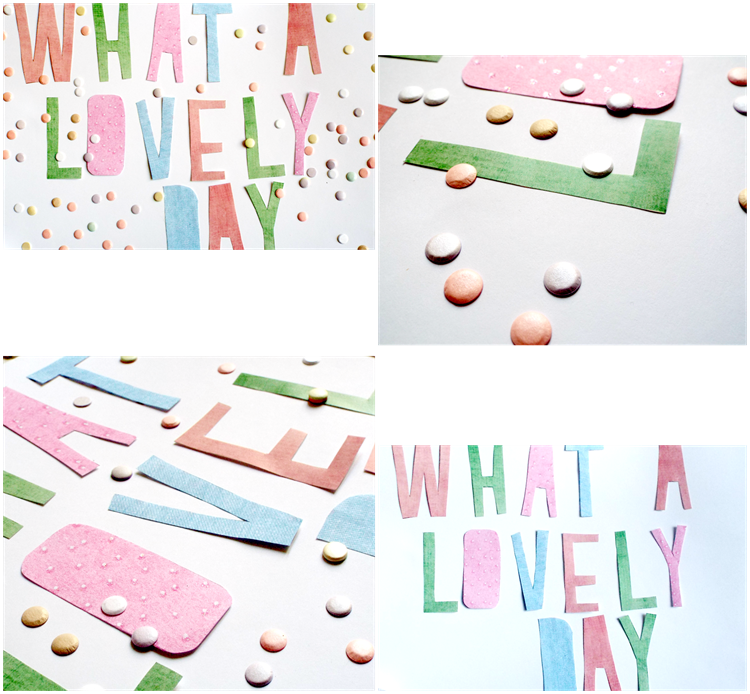 what a lovely day garland letters