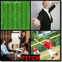 PITCH- 4 Pics 1 Word Answers 3 Letters