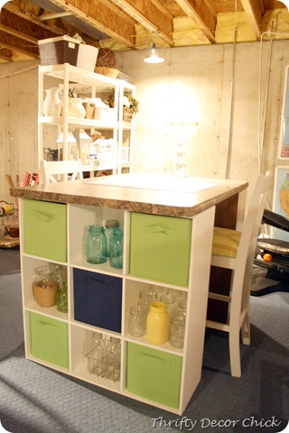 craft storage table