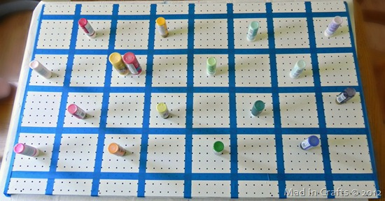 lay out paints on grid