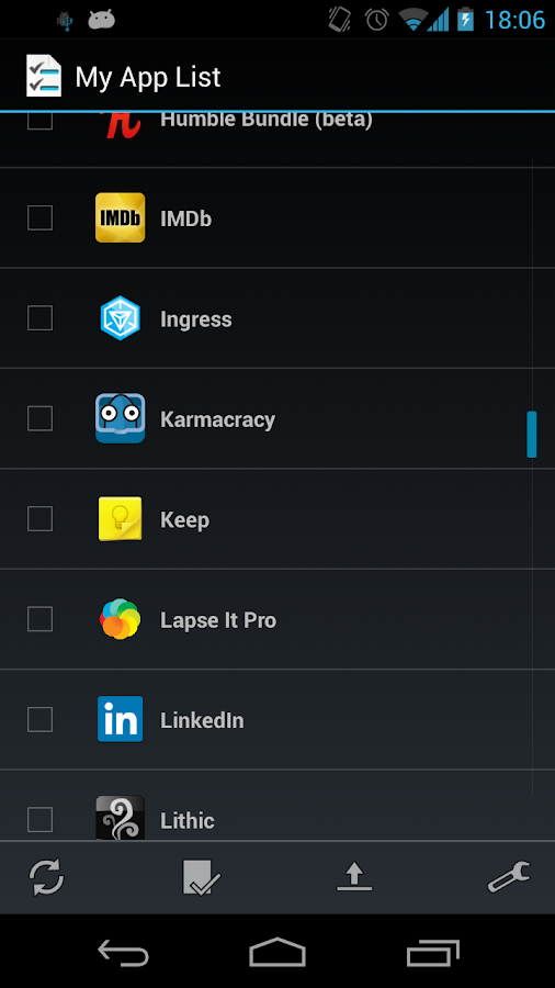 My App List- screenshot