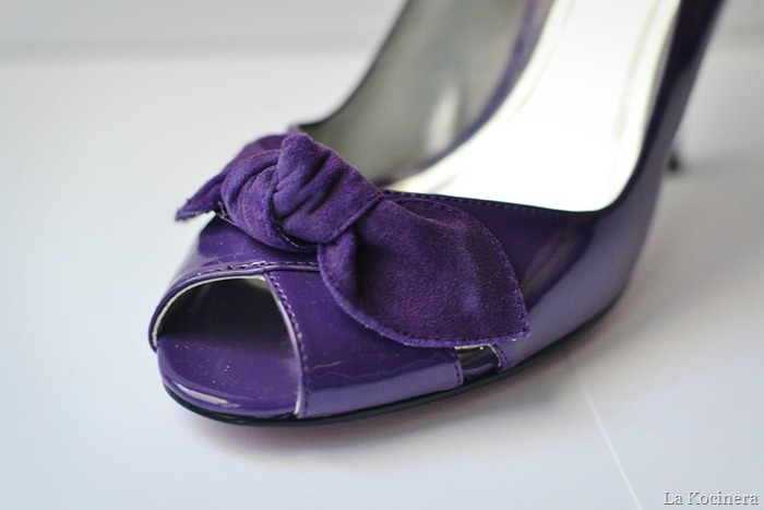 purple peep toes