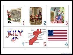 fourth of july calendar cards