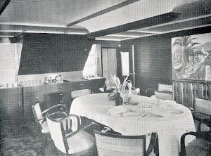 BREÑAS. Comedor. THE MOTOR SHIP. Abril de 1933