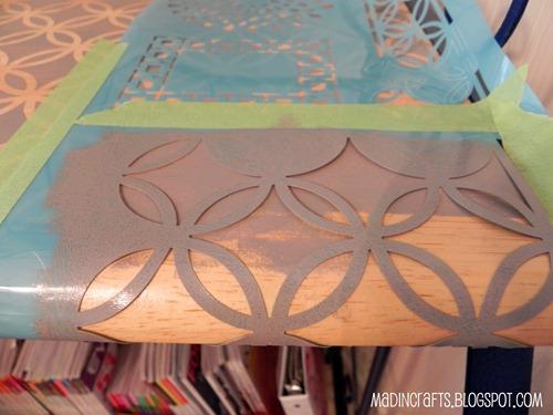 bend stencil around front edge