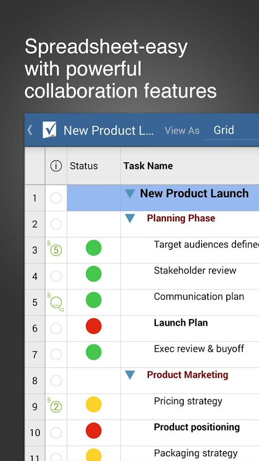Smartsheet Project Management- screenshot
