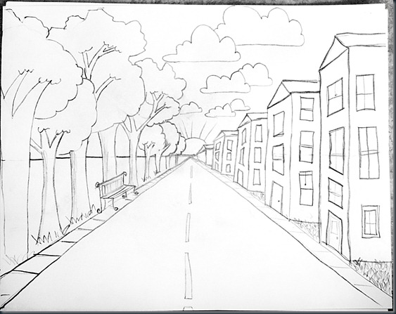 smART Class: Drawing Steps for One Point PerspectiveEasy One Point Perspective Drawing