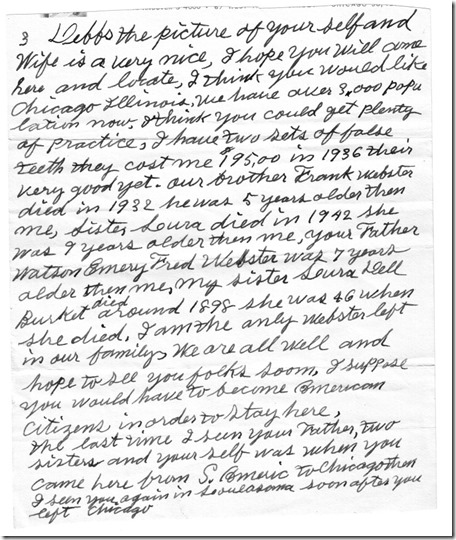 Rollin Letter to Debs pg 3