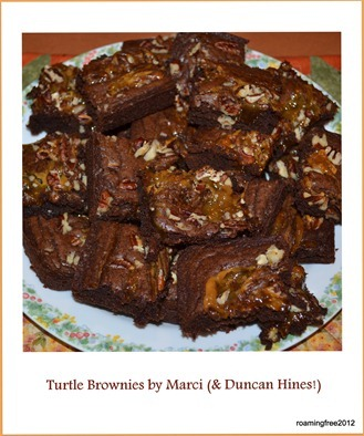 Turtle Brownies by Marci (& Duncan Hines!)